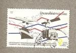 Stamps Asia - Thailand -  Decada de transportes para Asia y Pacífico