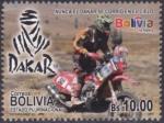 Sellos del Mundo : America : Bolivia :  Rally Dakar 2014 - Nunca el Dakar se corrió en el cielo