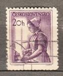 Sellos del Mundo : Europa : Checoslovaquia : Enfermera (702)