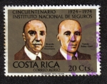 Sellos del Mundo : America : Costa_Rica : Cincuentenario Instituto Nacional de SEguros 1924-1974