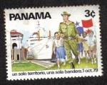 Sellos de America - Panamá -  Un solo territorio, una sola bandera, 1 Oct. 79