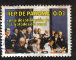 Sellos del Mundo : America : Panamá : Canje de Ratificación de los Tratados del Canal