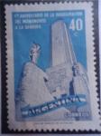 Stamps Argentina -  Primer Aniversariode la Inauguración del Monumento a la Bandera