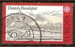 Sellos de Europa - Alemania -  Europa-CEPT.Paisaje con siete montañas.