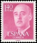 Stamps Spain -  ESPAÑA SEGUNDO CENTENARIO Nº 1154 ** 1,4P ROJO MAGNATE GENERAL FRANCO