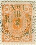 Sellos del Mundo : Europa : Finlandia : Tipo escudo de 1875
