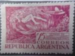 Stamps Argentina -  Semana de Aeronautica 1947