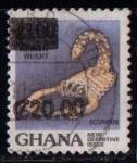 Sellos de Africa - Ghana -  Escorpión