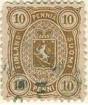 Stamps Europe - Finland -  Escudo. Valor en pennia-penni