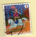 Sellos del Mundo : Europa : Bélgica :  Acrobata