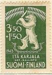 Stamps Finland -  Escudo de la Carelia Oriental