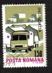 Sellos del Mundo : Europa : Rumania : Campamento y ambulancia de la Cruz Roja Tent