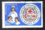 Sellos de Europa - Rumania -  Enfermera de la Cruz Roja con los niños, globo y placas
