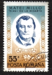 Stamps Romania -  Matei Millo (1814-1896) actor