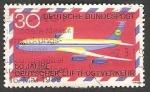 Stamps Germany -  2 - Avión Boeing 707