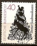 Sellos de Europa - Alemania -  Los Músicos de Bremen.Silueta de Dora Brandenburg-Polster.