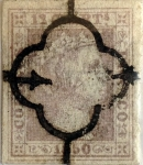 Stamps : Europe : Spain :  Scott#2 12 cuartos 1850