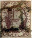 Stamps : Europe : Spain :  Scott#7 12 cuartos 1851