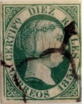 Stamps : Europe : Spain :  Scott#11 10 reales 1851