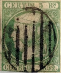 Stamps : Europe : Spain :  Scott#15 5 reales 1852