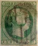 Stamps : Europe : Spain :  Scott#22 5 reales 1853