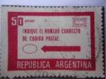 Sellos de America - Argentina -  Indique el Número Correcto deCódigo Postal