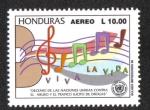 Sellos de America - Honduras -  Decenio De Las Naciones Unidas Contra El Abuso y Tráfico Ilícito De Drogas