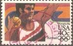 Sellos de America - Estados Unidos -  JUEGOS  OLÌMPICOS  1984.  LANZAMIENTO  DE  PESO.