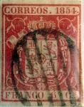 Stamps : Europe : Spain :  Scott#26 6 cuartos 1854