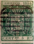 Stamps Spain -  Scott#29 5 reales 1854