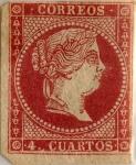 Stamps Spain -  4 cuartos 1856-59