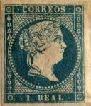 Sellos de Europa - España -  1 real 1856-59