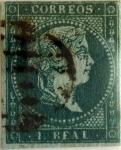 Sellos de Europa - España -  1 real 1855