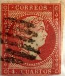 Sellos de Europa - España -  4 cuartos 1856-59