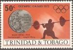 Sellos del Mundo : America : Trinidad_y_Tobago : JUEGOS  OLÌMPICOS  1972.  LEVANTAMIENTO  DE  PESAS.