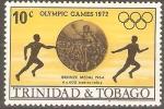 Stamps America - Trinidad y Tobago -  JUEGOS  OLÌMPICOS  1972.  CARRERA  DE  RELEVOS.