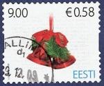 Sellos de Europa - Estonia -  ESTONIA Campanas navideñas 0,58