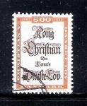 Sellos de Europa - Dinamarca -  300 años del Derecho Danés por Cristian V