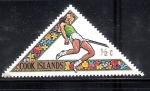 Stamps New Zealand -  Salto de valla, Juegos del Pacífico Sur