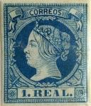 Sellos de Europa - España -  1 real 1860