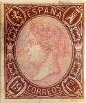 Stamps Spain -  19 cuartos 1865