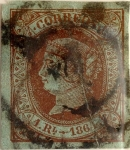 Stamps Spain -  1 real 1864