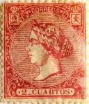 Stamps Spain -  2 cuartos 1866