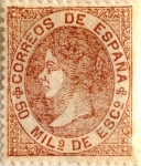 Stamps Spain -  50 milésimos 1867