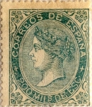Stamps Spain -  200 milésimos 1868-69