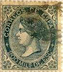 Sellos de Europa - España -  200 milésimos 1868-69