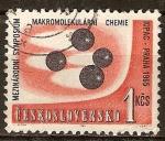 Sellos de Europa - Checoslovaquia -  Simposio Internacional sobre Química Macromolecular.