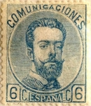 Sellos de Europa - España -  6 céntimos 1872-73