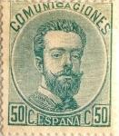 Sellos de Europa - España -  50 céntimos 1872-73