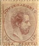 Sellos de Europa - España -  1 peseta 1872-73